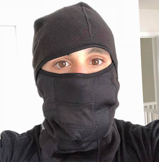 my head in the ergodyne balaclava